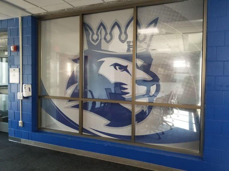 Hopkins interior window graphic King Signs Minneapolis