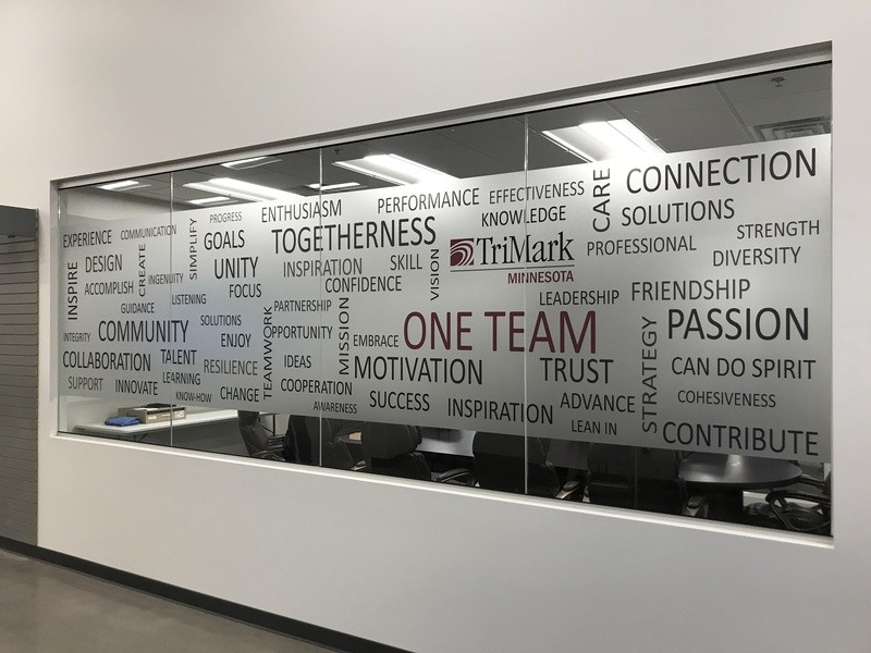 high-quality privacy vinyl for office Minneapolis