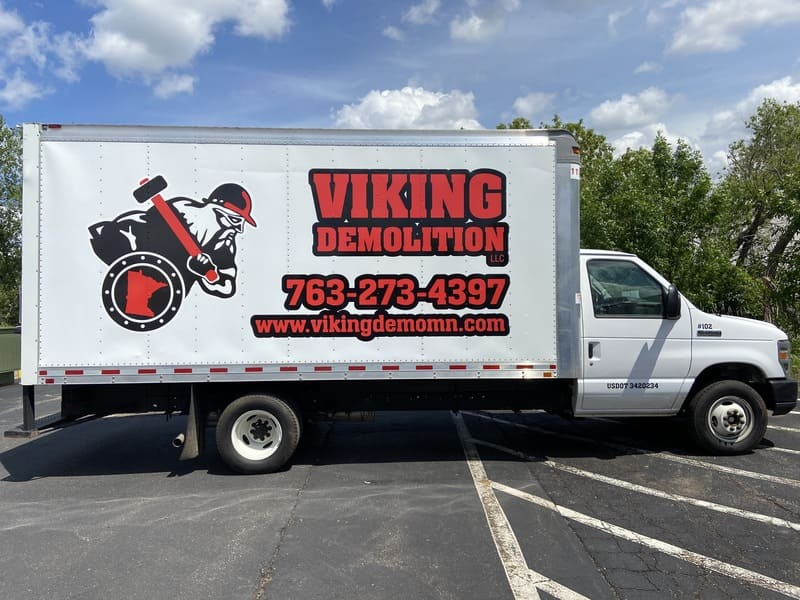 Partial or full wraps for semi-trucks or box trailers King Signs Minneapolis